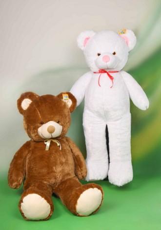KinderPlay Veľký plyšový medveď Biely 160 cm